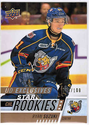 17/18 2017 UD CHL HOCKEY STAR ROOKIES EXCLUSIVES CARDS #301-400 U-Pick From List