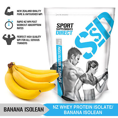 3Kg 100% Nz Whey Protein Isolate Banana - Isolean Nz Wpi 3 X 1Kg