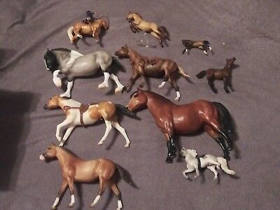 Breyer Horses 10x Excellent Condition Traditional Sets and Minis 10 piece lot