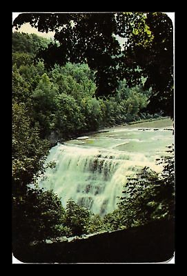 Dr Jim Stamps Us Middle Falls Letchworth State Park Genesee New York Postcard