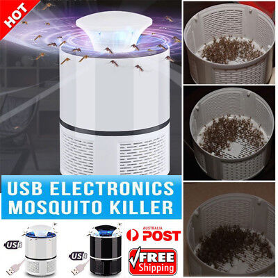 Electric Mosquito Insect Killer Fly Bug Zapper Trap Catcher Lamp USB LED Light