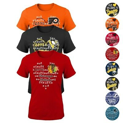 NHL Reebok & Outerstuff Various Graphic T-Shirt Collection Girls Youth  (XS-XL)