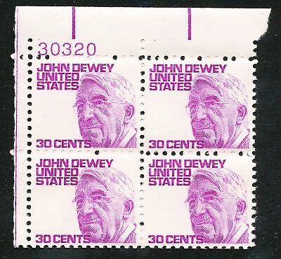 Dr Jim Stamps Us Scott 1291 John Dewey Plate Block Og Nh No Reserve