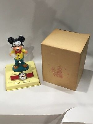 Vintage Nos 1950's Disney Mickey Mouse Ingersoll Watch W Box