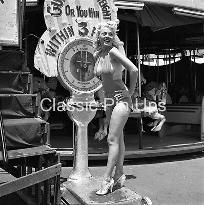 Bunny Yeager Archive 1950s Orig 2 1/4 Camera Negative MARIA STINGER Pin-Up NUDE