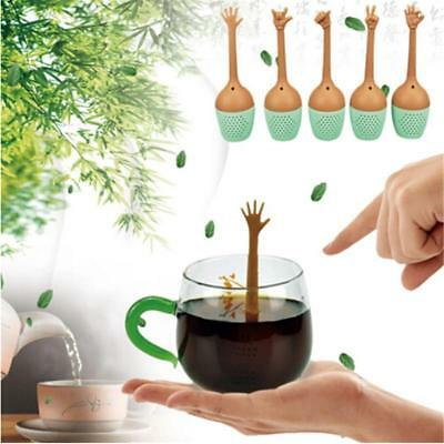 Fun Silicone Loose Tea Leaf Strainer Herbal Spice Infuser Filter Diffuser Y2
