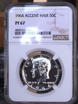 1964 Accented Hair Kennedy Half NGC PF 67 * Price Guide $210 * Brown Label *