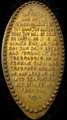 """Early 1900's Elongated Cent   """"The Lord's Prayer""""  Cool Exonumia  NR"""
