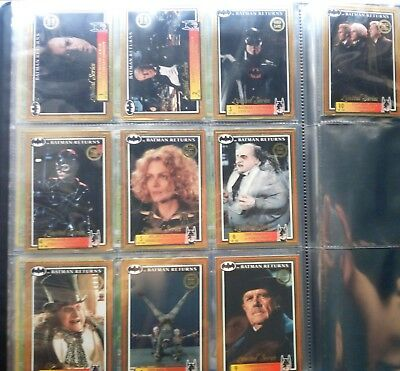 Batman Returns 1992 150 Base Set Complete +10 Limited Gold Series Cards+Stickers
