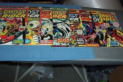 Marvel Ghost Rider 1975-1976 13-19 And 22 Bronze Age 8 Comics Bundle