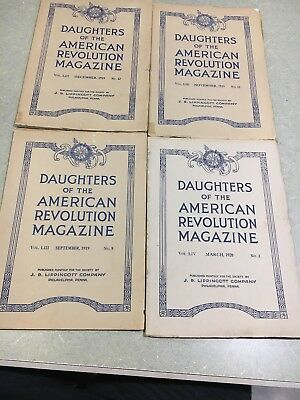 1919 Three Daugthers Of The American Revolution Magazines And One From 1920