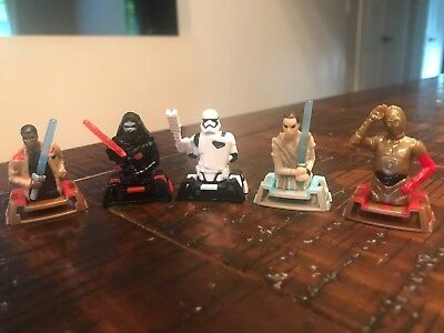 STAR WARS Lot of 5 KINDER EGG 2018 Surprise Small Figurines