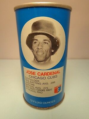 Rc Cola Jose Cardenal Chicago Cubs Outfielder Baseball Pull Tab Soda Pop Can