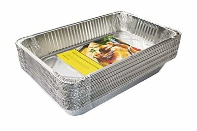 eHomeA2Z (20 Pack) Heavy Duty Full-Size Deep Disposable Aluminum Foil Steam Tabl