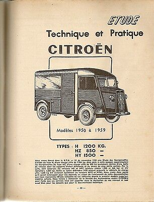 Revue Technique Automobile 159 Rta 1959 Citroen Type H Hz Hy (1/2) Simca Vedette