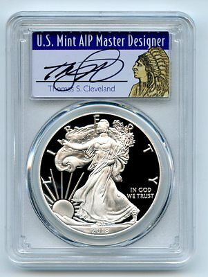 2018 S $1 Proof Silver Eagle PCGS PR70DCAM FS Limited Ed Thomas Cleveland Native