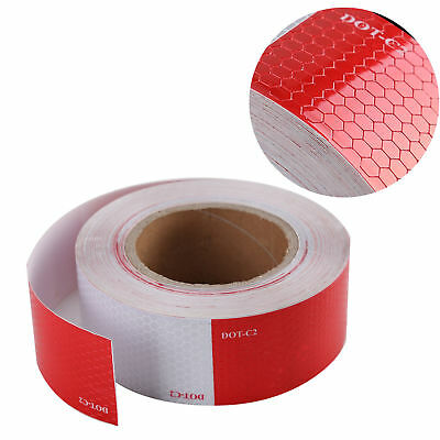 """Conspicuity Tape 2""""x150' DOT-C2 Reflective Approved Trailer Red White -1 Roll"""