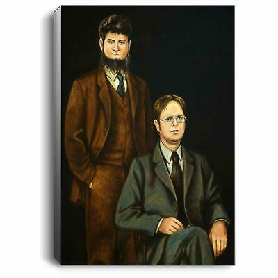 The Office Dwight Schrute and Mose No Framed