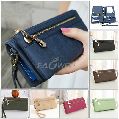 Women Lady Long Travel Wallet Zip Purse Card Phone Holder Case Clutch Handbag AU