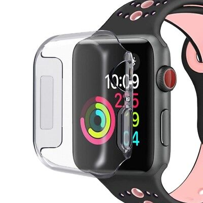 For Apple Watch Series 4 iWatch 40/44mm Clear TPU Screen Protector Case CN SHIP!