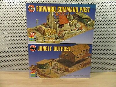 Airfix 1:72 03382 03381 Bausatz Jungle Outpost I Forward Command Post in OVP E57
