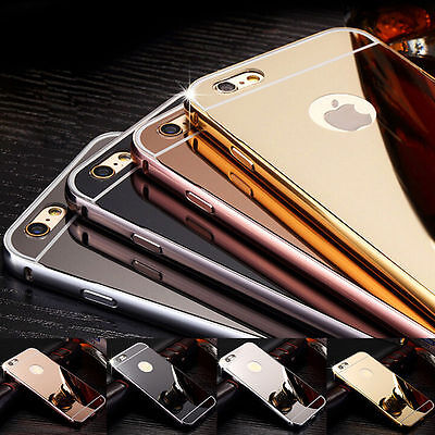 Luxury Aluminum Ultra-thin Mirror Metal Case Cover for iPhone 7 7 Plus