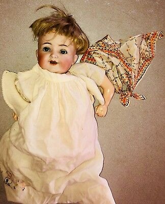 Antique Doll. K*R Simon & Halbig Germany. ?C.1900's.  Bisque Hard.   NEEDS WORK