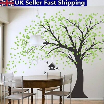 Large Tree Wall Stickers Removable Nursery Decal Mural Home