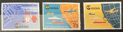 Ghana 1962 Opening of Tena Harbour SG274/6 MNH