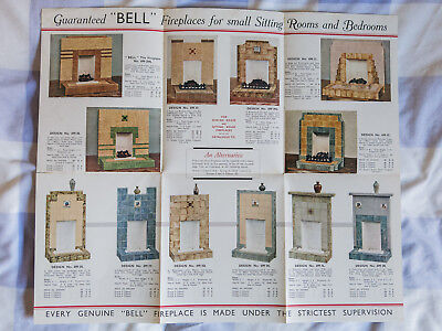Art Deco 1930s Bell Fireplaces Leaflet Pamphlet Illustrated Catalogue