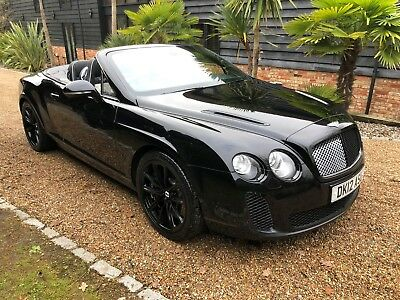 2012 Bentley Gtc Super Sport Black /black 91K Mls Full Bentley History V.nice