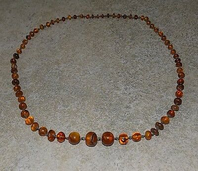 Ancient Necklace From Natural Russian Amber 1930