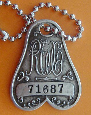 """Antique Charge Coin Tag Collectible: """"RH WHITE""""; Iconic Boston Dept Store Tag"""