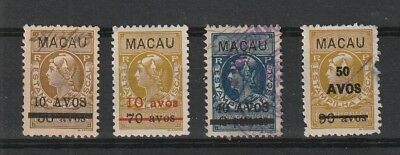 Macau China 1942 surcharged revenue stamps. Used