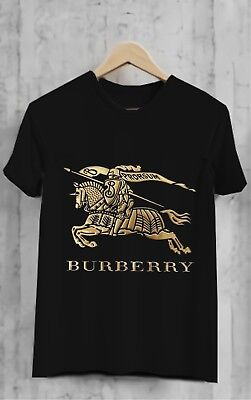 1Burberry Havana Gold TShirt Black Full SIze for Men's Clothing S-3XL