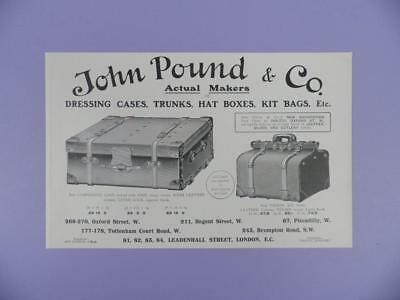 John Pound & Co, Dressing Cases,Trunks etc. Original pre 1920s Magazine Advert