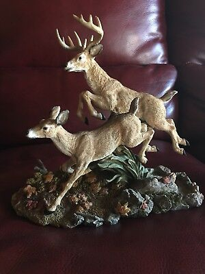 """Wildlife collectibles """"Second Nature Design"""" Doe and Buck"""