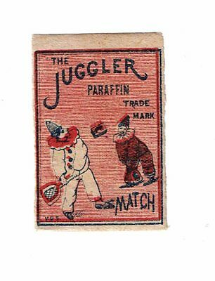 1 Old Belgium c1930s  matchbox label The Juggler Paraffin Match