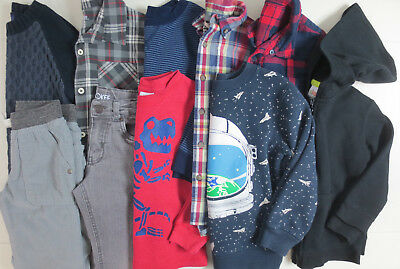 LOT Boys Clothes Size 5T 5/6 Fall Winter Shirts Pants Sweatshirt Mixed Brands