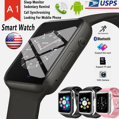2019 A1 Bluetooth Smart watch Wristwatch for Android Phone Intelligent Men Women