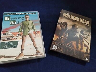 "THE WALKING DEAD ""Stagione 8"" + BREAKING BAD ""Prima Stagione"" Perfetti!! DVD"
