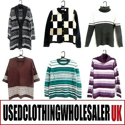40 Women's Mixed Jumpers Knitwear Tops Used Wholesale Clothing Fashion Joblot