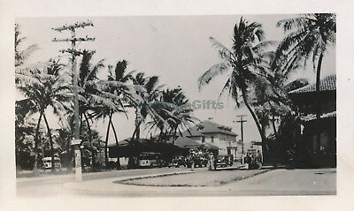 WWII 1940s Wailuku Maui Hawaii photo #7 street scene, buses