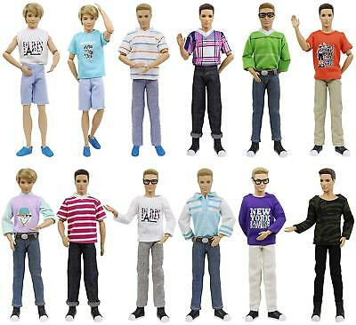 10 Sets Ken Outfits Clothes Costume For Boy Friend 12 inch Doll + 3 Pairs Shoes