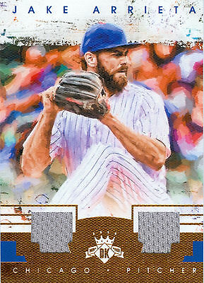 Jake Arrieta 2016 Diamond Kings Materials Bronze 5/10! Cubs! Free Ship & Bonus!