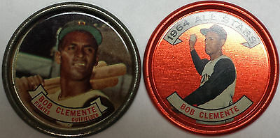 Roberto Clemente 1964 Topps Coins 55 & 150 All-Star Exmt-Nm! Pirates! Free Ship!