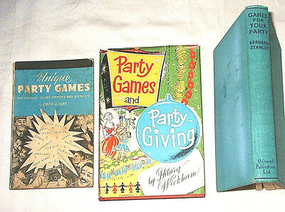 Vintage Party Games Books