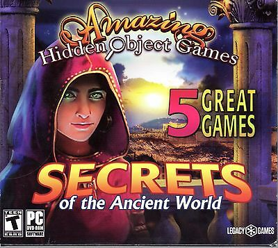 Amazing Hidden Object Games SECRETS OF THE ANCIENT WORLD 5 PACK PC Game NEW