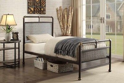 Cambridge Unique Industrial Scaffold Pipe Style Metal Single 3ft Bed Frame