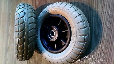 Pair of Ultralite 480 Front Wheels in good condition.Solid Tyres 7 x 1 - 3/4